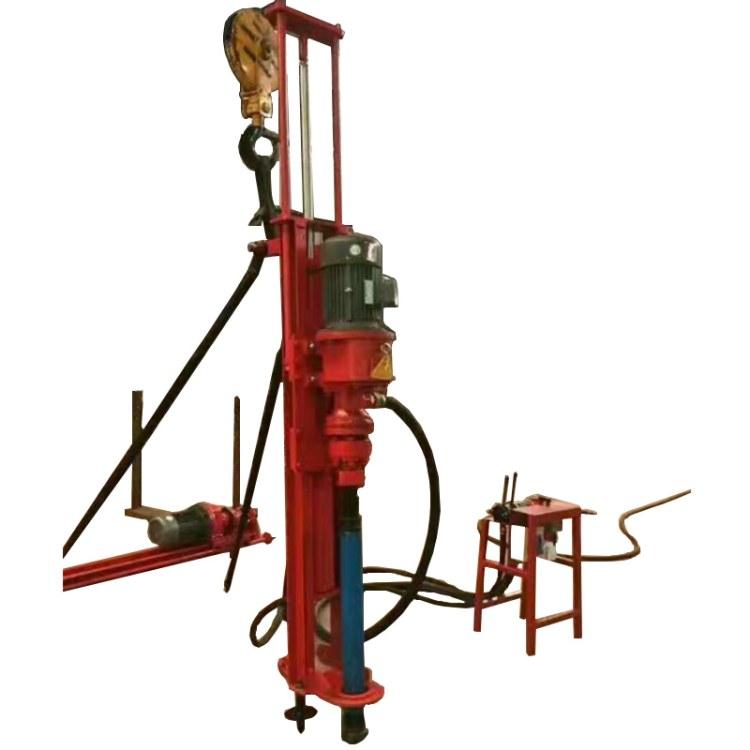 程煤支架式潜孔钻机 矿用本安型气动潜孔钻机 10米麻花钻杆直销