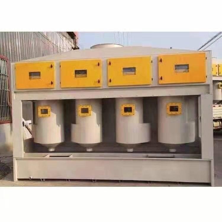 气旋柜气动混流净化柜水旋气旋塔水帘废气处理设备济南家旭厂家