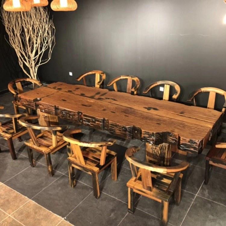 老船木办公桌  古船木会议桌