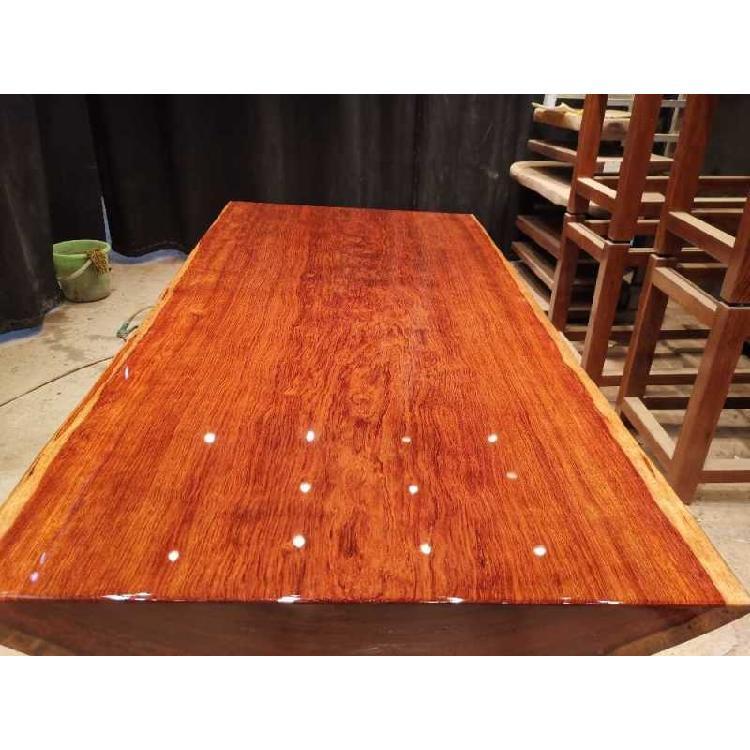广东中山书桌画桌茶桌餐桌办公桌会议桌电脑桌老板主人桌民宿实木巴花大板