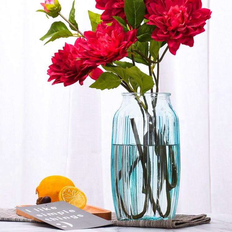 批发欧式简约大花瓶北欧创意花瓶客厅装饰摆件水培插干花器
