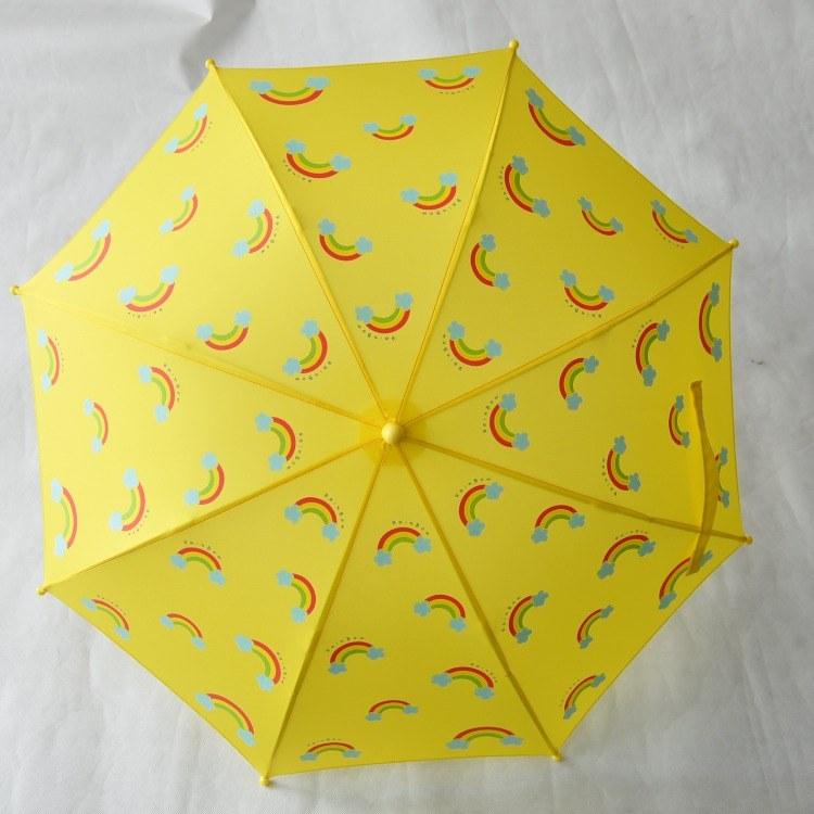 【艺都伞厂】儿童可爱伞长柄弯柄男女宝宝晴雨两用超轻加大儿童彩虹伞