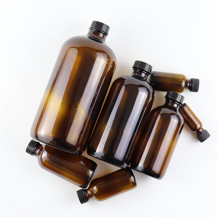 250ml棕色小口化学试剂瓶玻璃500波士顿1000茶色样品空瓶带盖