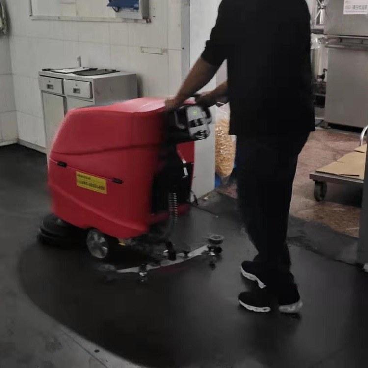 手推式拖地车-静音工业洗地机-商场车间电瓶式手推洗地机