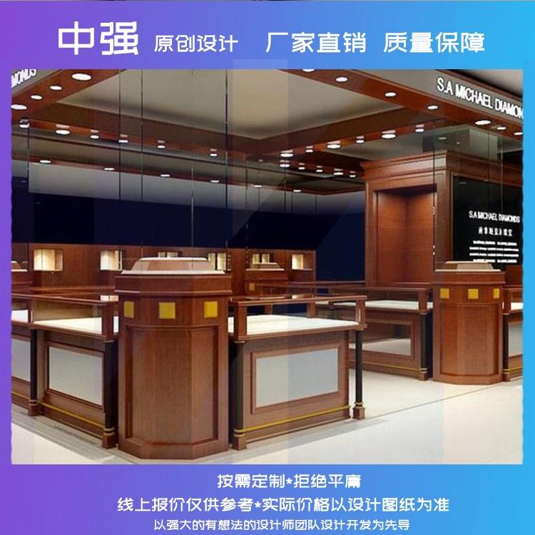 齐甄珠宝展示柜玉器珠宝首饰样品玻璃商用陈列柜可提供安装服务