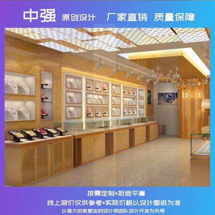 齐甄镇江展柜玻璃展柜欧式简约珠宝饰品展示柜高端定制厂家直销