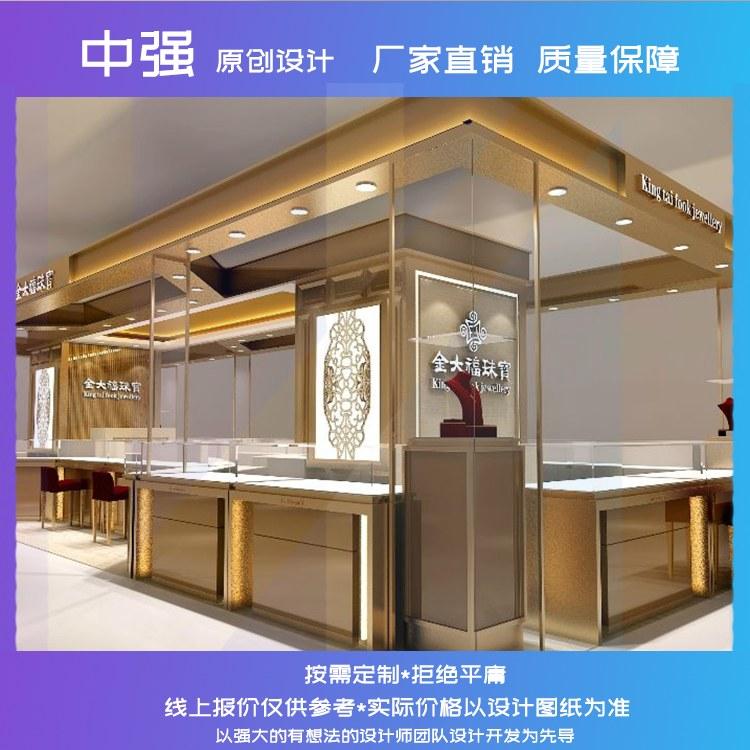 齐甄珠宝展柜珠宝饰品产品礼品玻璃展柜展示柜工厂直销经久耐用