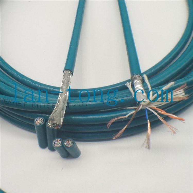 拖链网线-高柔性耐弯曲工业以太网屏蔽拖链专用网线EtherCAT,CAT5e,CAT6,CAT6A