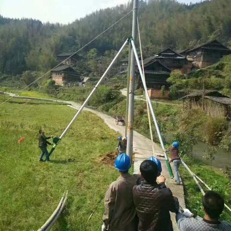 程煤立杆机 铝合金框式立杆机 8-18米水泥杆立起杆器直销