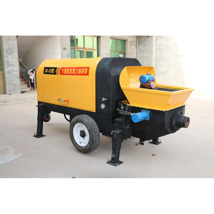 博恩牌混凝土输送泵 小型粗石细石二次结构浇筑上料机 柴油二次构造柱泵