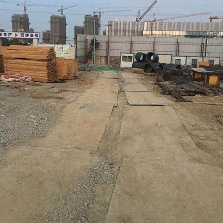 蚌埠蚌山钢板出租用于松软道路铺设-便于工程车辆通过