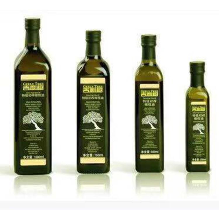 现货供应橄榄油瓶山茶油瓶 食用菜籽瓶 防漏大号玻璃瓶包装酱醋瓶
