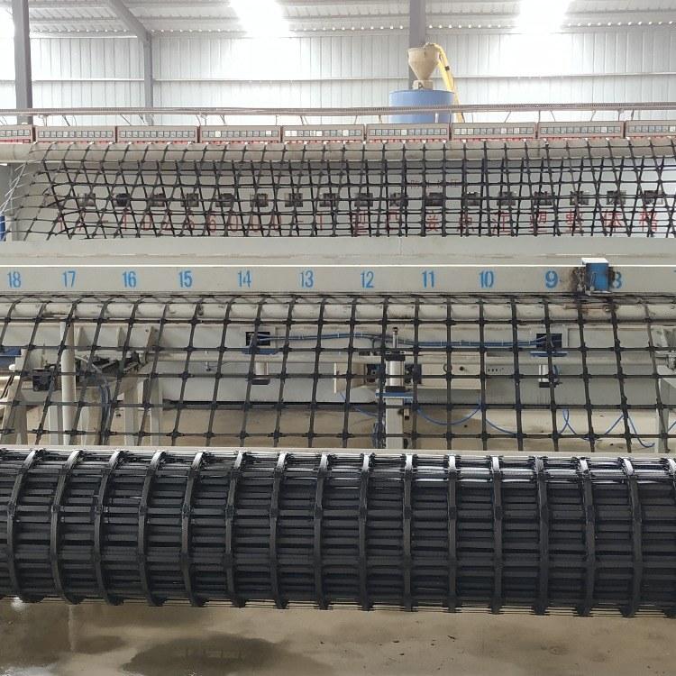 金驰华易凸接点注塑整体钢塑土工格栅幅宽6米长度50米一件300平米批发