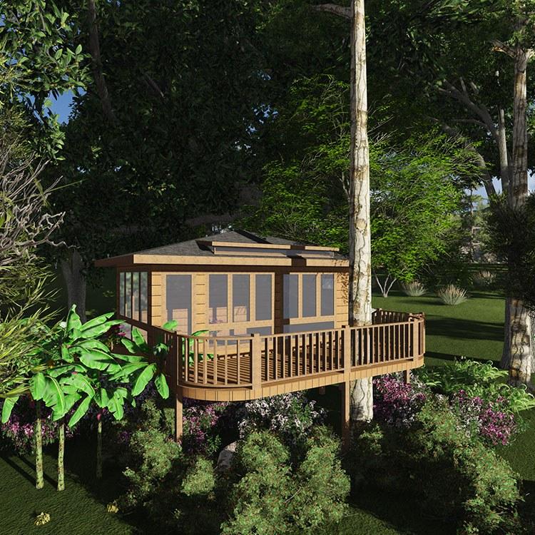 成都新型木屋设计厂家 户外园林景观工程施工定制|价格 树屋生态景区度假制作厂家直销。