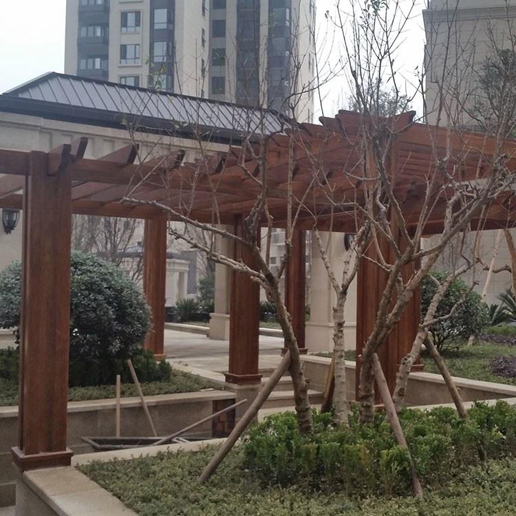 花架葡萄架定制费用 四川腾龙小区景区爬藤花架葡萄架制作 厂家直销