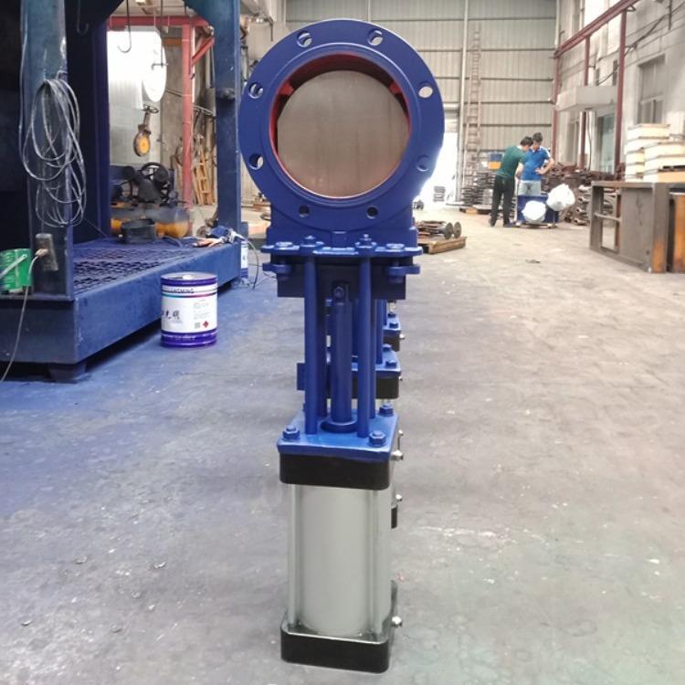 对夹式刀闸阀,PZ73TC手动陶瓷刀闸阀,气动穿透式刀闸阀