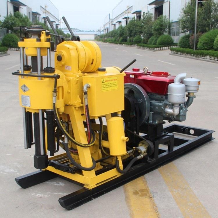 山东亿创机械厂家生产hz130型水钻小型打井机水井钻机 打井设备 130米