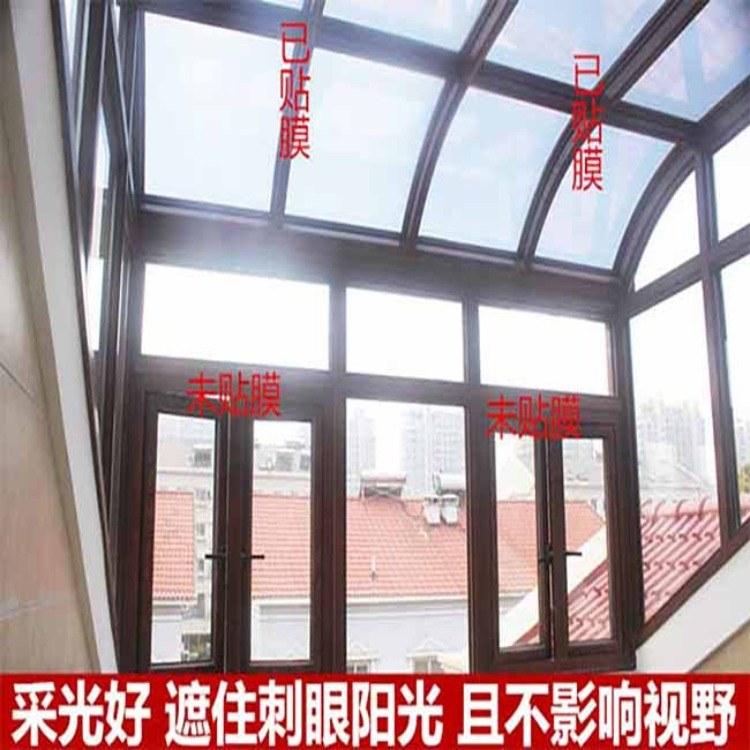 建筑贴膜的作用?西安阳光房玻璃幕墙隔热防爆贴膜
