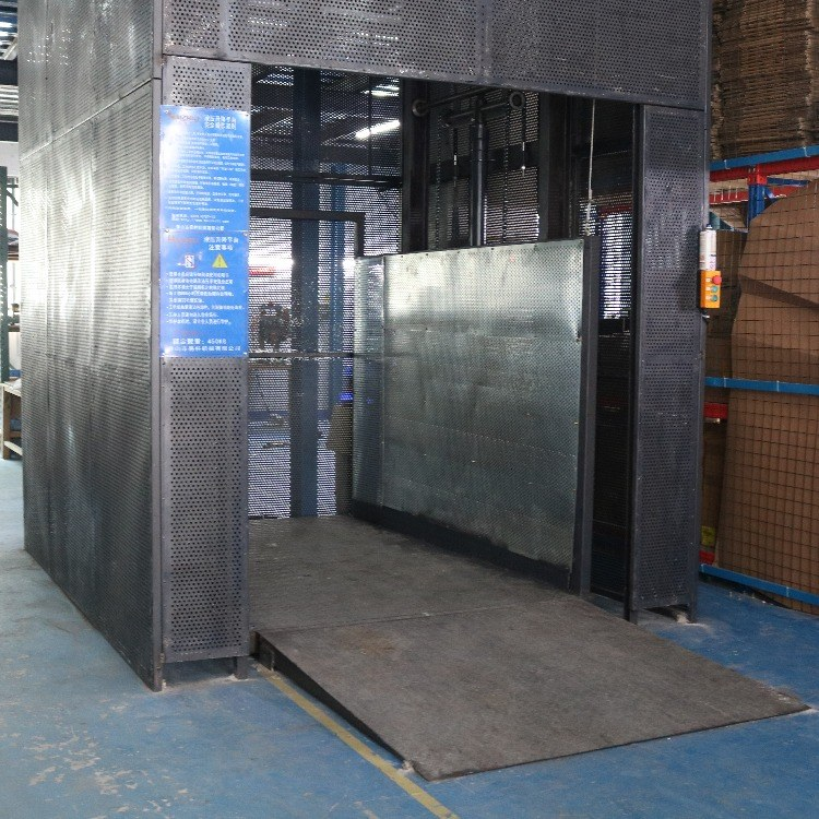 东莞货物装卸升降机 中山厂房仓库货物卸货平台 工业用升降平台
