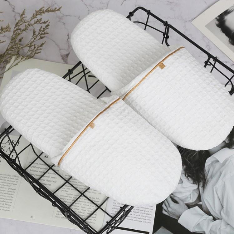 民宿酒店宾馆一次性拖鞋 -yilanmei品牌[厂家直销]华夫格面料 量大优惠 一次性用品