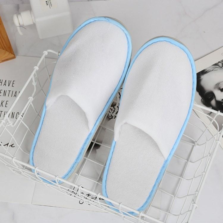[厂家直销]-伊兰美品牌-高档酒店宾馆一次性拖鞋 真美布面料 量大优惠