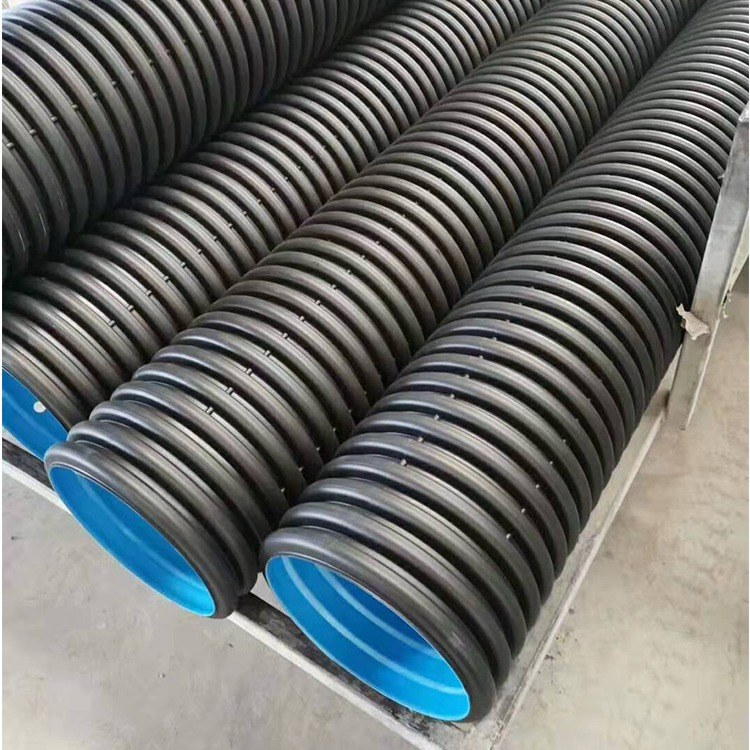 河南HDPE双壁波纹管_用于小区_市政雨水_污水排放_聚乙烯材质_厂家直销