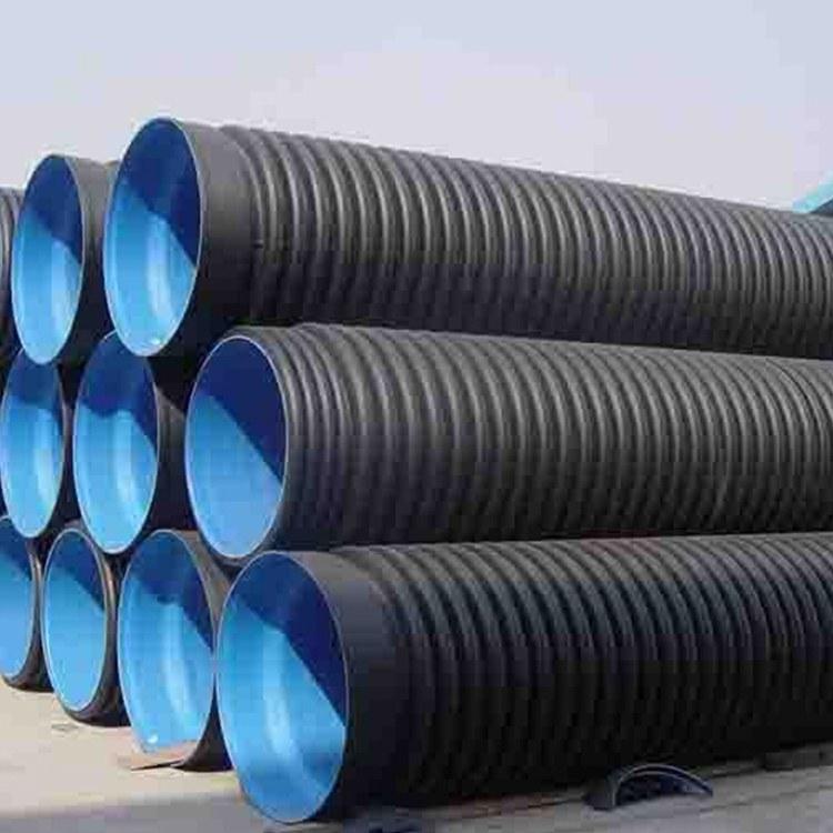 河南PE双壁波纹管价格-污水排放波纹管-批发销售
