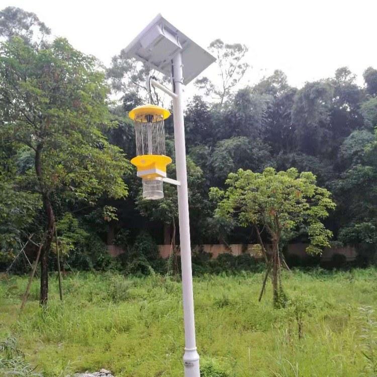 太阳能杀虫灯 别墅小区庭院太阳能灭虫灯 杀虫增收灯 农用诱虫灯