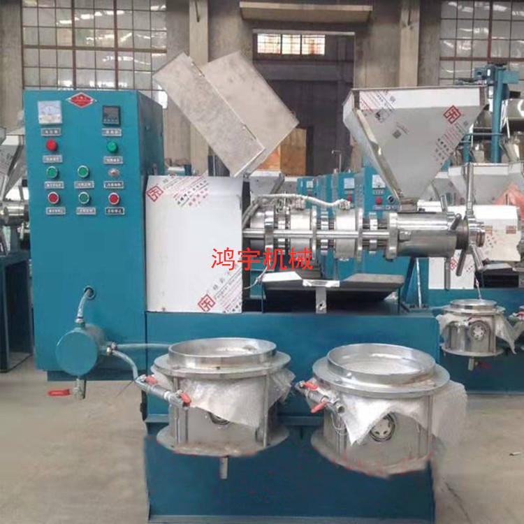 贵州芝麻香油型螺旋榨油机全自动螺旋榨油机菜籽冷热两用传统榨油机械设备