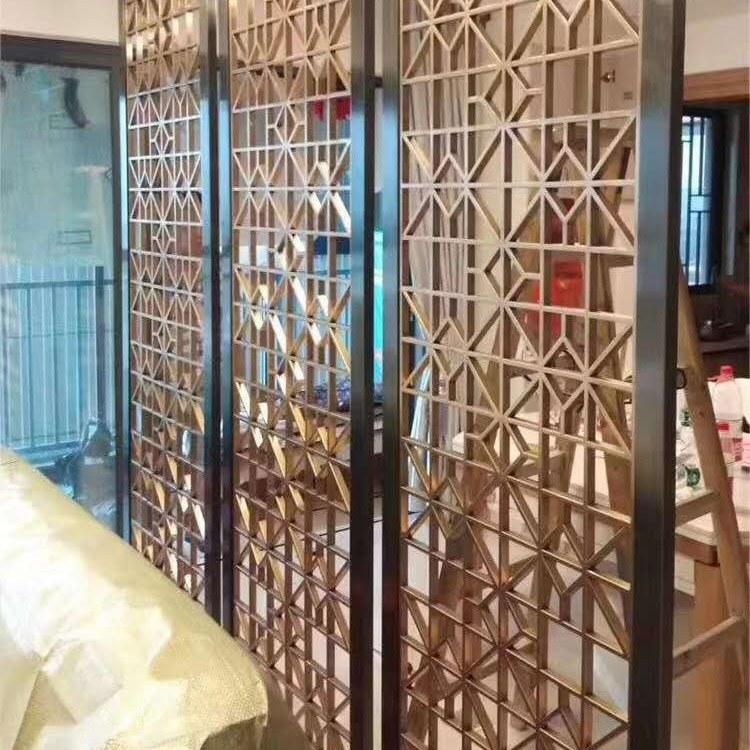 佛山厂家定制 家用型铝艺屏风 办公装饰镂空雕花  佛山铝屏风