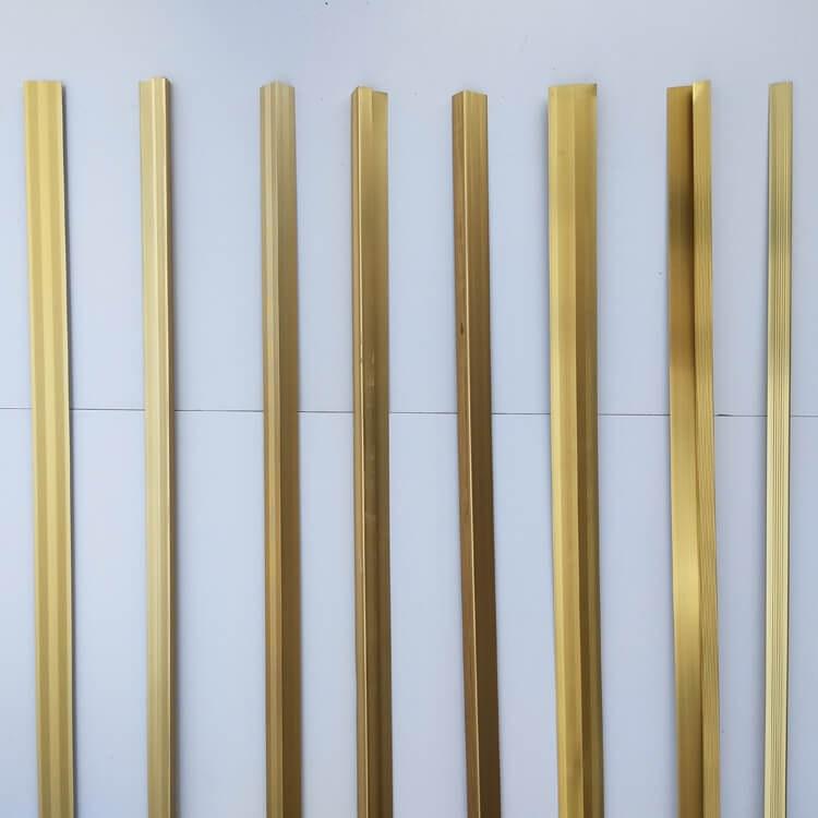 成都地板辅料批发收口条铝合金压边条收边条 直角过渡条 地板金色收口条