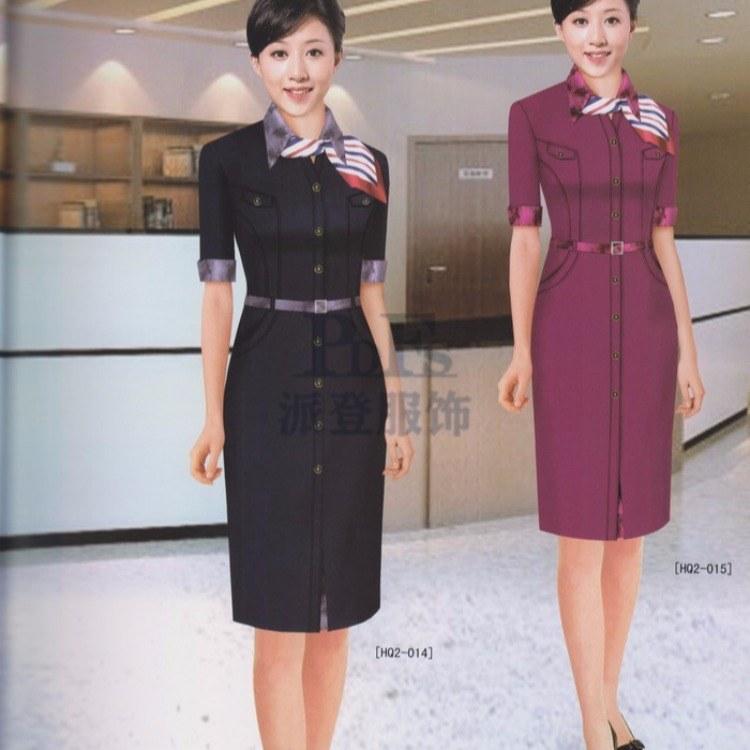 女式西服职业装 康定县酒店服务员服装价格定做