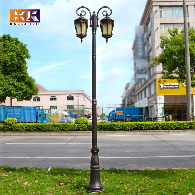 中山市户外双头欧式庭院灯 兴凯支持定做欧式庭院灯