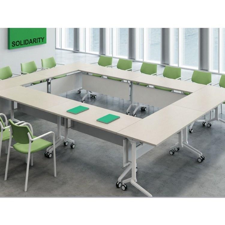 折叠会议培训桌合肥雷奥办公家具厂家直销可移动组合拼接培训桌椅