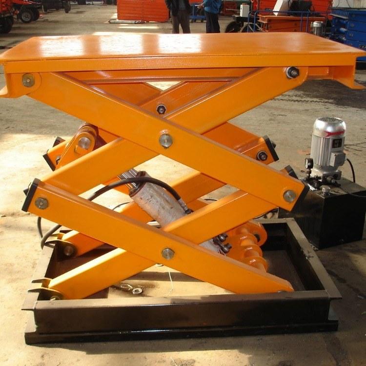 济南升降机厂家-生产固定剪叉式液压升降平台 尺寸定制
