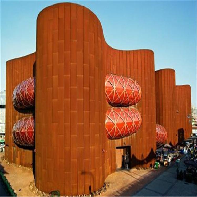 山东聊城 Q460qNH耐候钢板 红锈钢板雕塑 专业定制