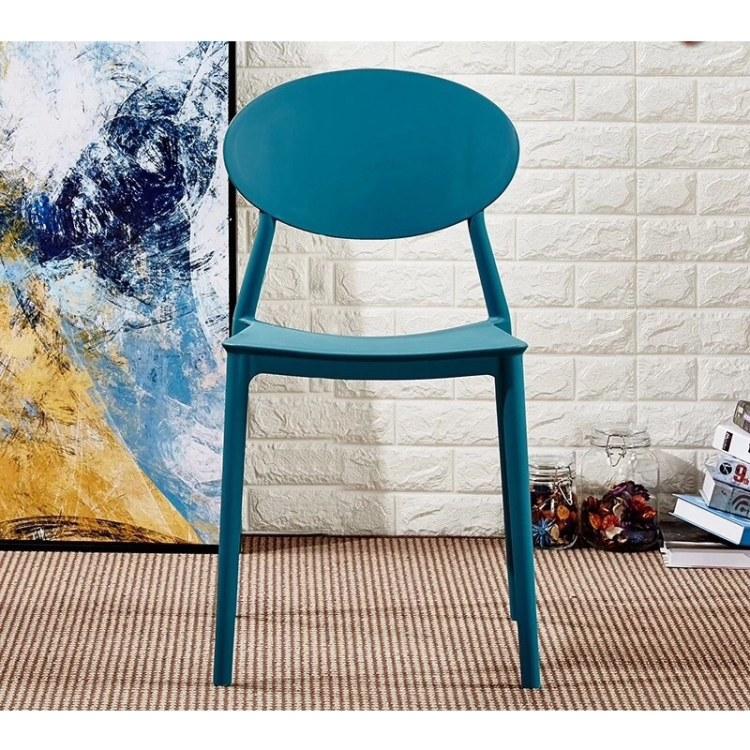 广州加厚塑料咖啡厅休闲餐椅批发  家用现代北欧创意扶手靠背椅    工厂直销量大从优