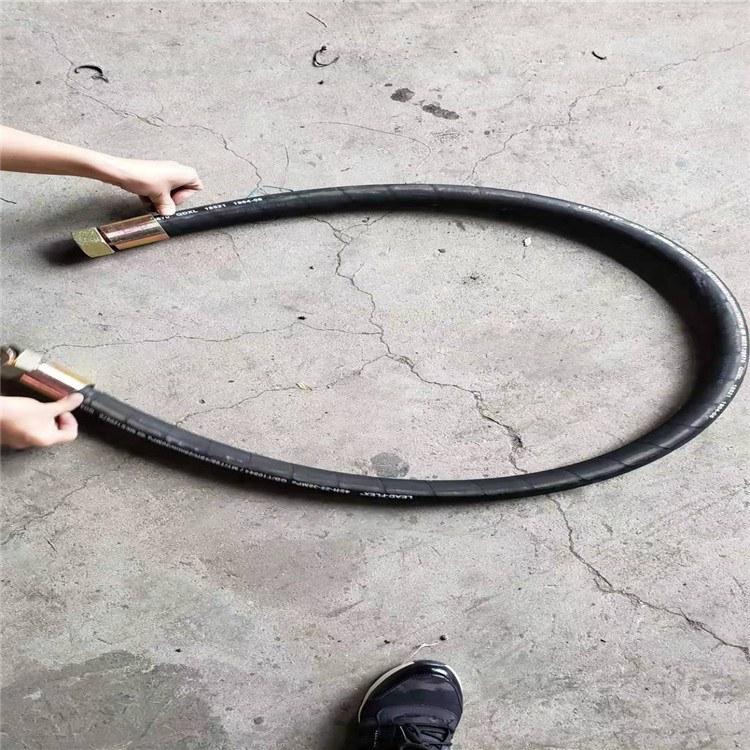 大口径高压软管耐火阻燃高压胶管钢丝编织耐磨橡胶管价格