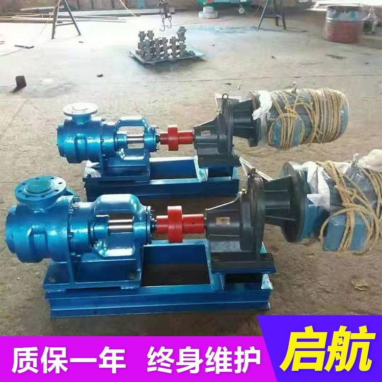 启航直销不锈钢泵沥青保温泵 染料食品专用泵 转子泵 凸轮转子泵