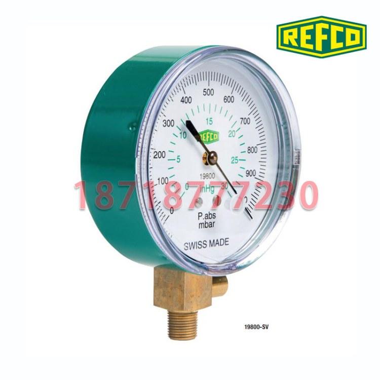 瑞士REFCO威科真空表19800-SV制冷空调用真空压力表 负压表