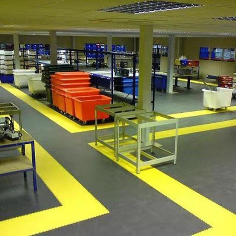 厂家直销车间 耐磨阻燃专业工业PVC地板价格耐冲击摩察系数大弹性高 柯奥品质优量大从优