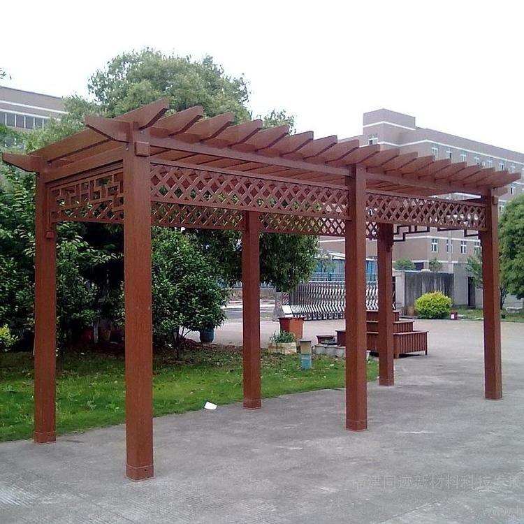 河南戶外庭院 庭院防腐木花架價格