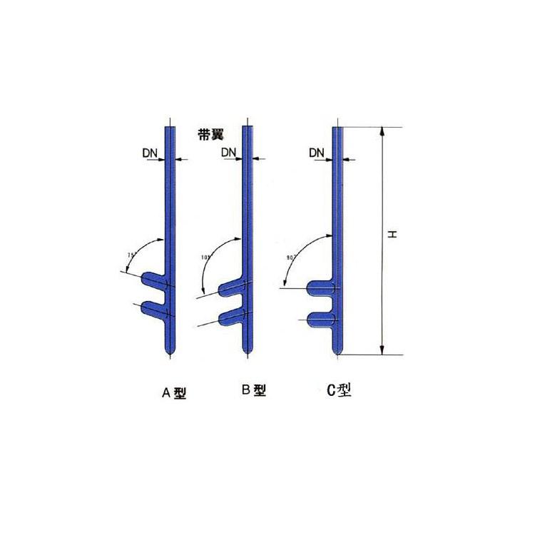 若嘉供应D型挡板温度计套管 专业生产温度计套管厂家 质量可靠