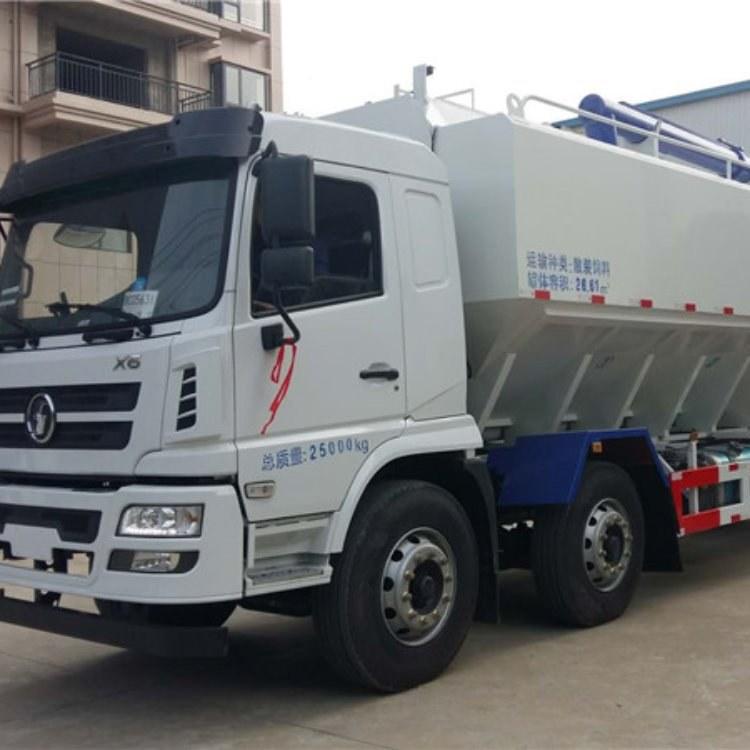 陕汽轩德30方15吨液压饲料车,台湾新技术,全封闭舱盖 厂家直销