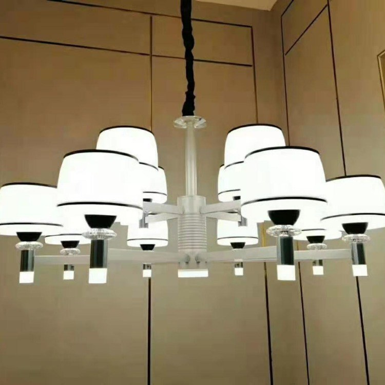 六头LED客厅餐厅吊灯全铜卧室创意灯饰