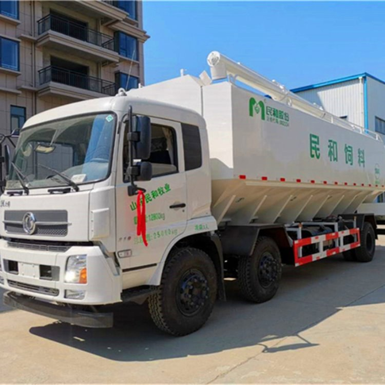 东风天锦三轴15吨的饲料车 散装液压电动饲料车 多规格 厂家直销