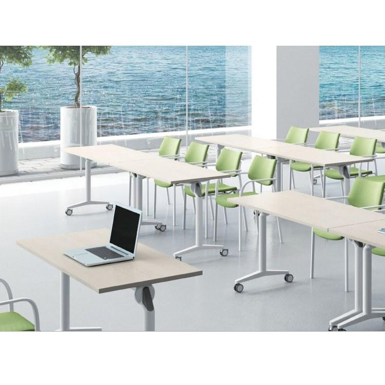 安徽办公家具培训桌可移动长条折叠人造板员工培训桌厂家工厂店迪雷奥