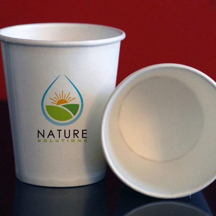 LOGO加厚廣告紙杯定制9盎司通用水杯旭美印務