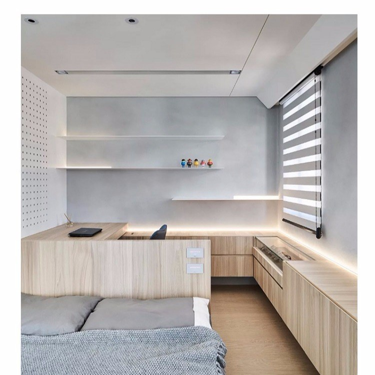 福州实木颗粒板 实木整体厨房橱柜 卧室衣柜衣帽间推拉门组合