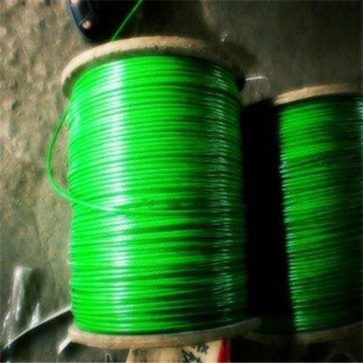 德力供应 黑色包胶后2.5MM不锈钢钢丝绳 黑色PVC包塑镀锌钢丝绳2.5MM